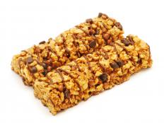 Granola bars may be useful snacks to include in hiking supplies.