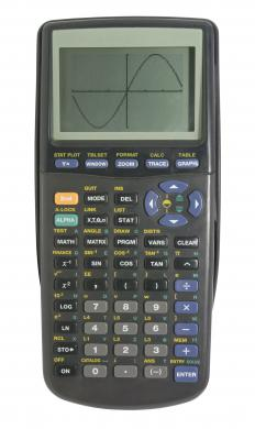 A graphing calculator may be used to calculate cubic spline interpolation.
