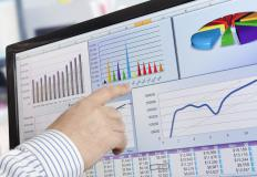 Financial analytics can involve incorporating complex information into easy-to-understand charts and graphs.