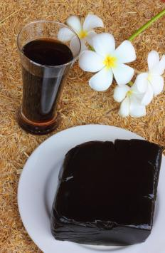 Grass jelly is a popular jelly-like dessert found in East Asian countries.
