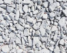 Crushed gravel is an aggregate frequently used in construction.