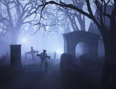 The climactic scene of Scrooge's tale takes place in a graveyard.