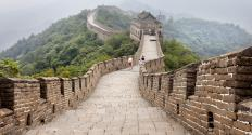 Construction of the Great Wall of China began around 5th century B.C. and stopped around the 16th century.