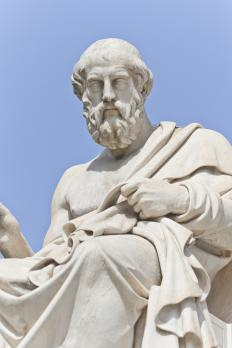 Greek philosopher Plato was one of the first people to discuss rhetoric.