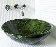 Countertop basins are available in a variety of styles.
