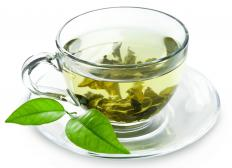 Green tea, which is made from Camellia sinensis plants.