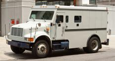 Cash-in-transit may refer to funds delivered to a customer by armored car.