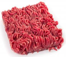Ground beef is typically labeled according to its fat content.
