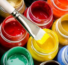 A fine artist may use a variety of paints to create a piece.
