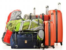 Suitcases come in a multitude of colors, weights and sizes.