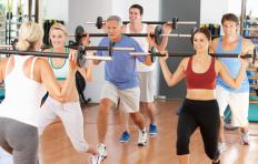 Lunges can help strengthen and tone the adductors of the inner thighs and hips.
