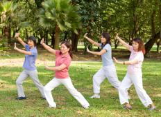 The names of Tai Chi positions are usually descriptive of the form of each pose.