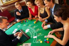 Group playing blackjack.