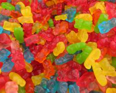 Gummy bears are a popular ice cream topping.