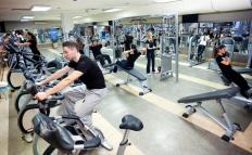 Stationary bikes and elliptical machines can be found at most gyms.