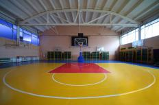A gymnasium used for physical education.