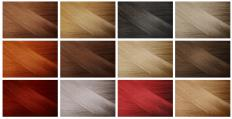 Hair dye is available in every shade from light to dark.