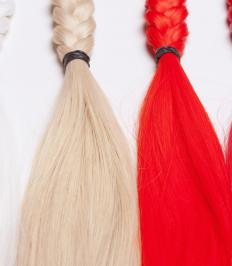 Hair wefts are often worn by actors for stage productions.