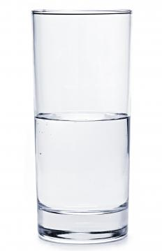 A glass of chlorinated tap water.