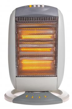 A halogen heater uses halogen elements rather than electrical coils or propane or butane conductors to provide the source of heat.