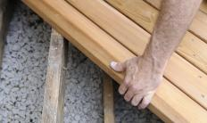 Decks for in-ground pools are typically built at ground level.