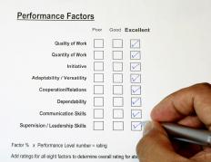 A supervisor often gives performance reviews.