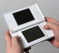 A handheld video game.
