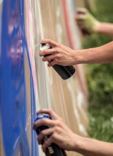 Anti-vandal paint is used to protect against graffiti.