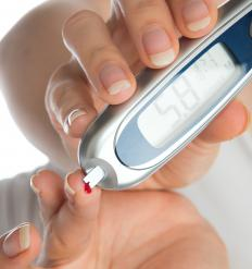 People with diabetes may experience eye lesions.