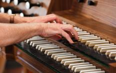 A musical instrument repairer is responsible for repairing instruments, like an organ.