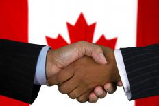 In a parliamentary system such as Canada's, multiple political parties form a coalition government when they agree to share responsibilities in the absence of a majority government.