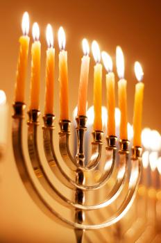 A Hanukkah bush may be similar in shape to a menorah.