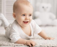 An infant with developmental coordination disorder may begin crawling later than other children.