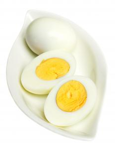 Hard-boiled eggs.