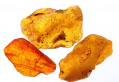 Amber, which is sometimes used to make healing jewelry.