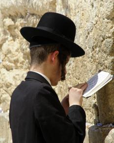 Spiritual healing may be sought at the Wailing Wall in Jerusalem.