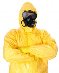 Protective gear should be worn when handling muriatic acid.