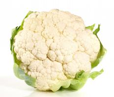 Cauliflower may be prepared fried.