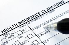A health insurance claim form.