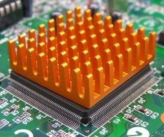 A heatsink is the part of a computer designed to move heat away from a computer's central processing unit.