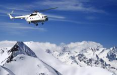 A helicopter mechanic may work for bush airlines that fly clients to remote locations.