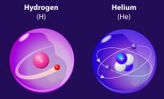 The helium atom, which only has two electrons, is far more stable than that of Hydrogen, the only lighter element.
