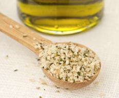 Hemp powder, made from ground hemp seeds, is a popular fiber-filled protein powder.