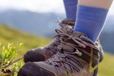 Moisture wicking socks may help prevent blisters from developing on feet.