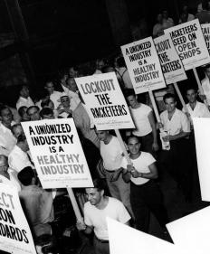 The Taft-Hartley Act gave the federal government the power to end strikes that endangered the public.