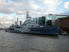 Built in the 1930s, the HMS Belfast served the British Navy until 1963.