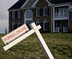 Sheriff's departments auction foreclosed homes so lenders may recover lost money on mortgages in default.