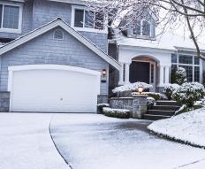 Heated driveways can help reduce the amount of snow that needs to be removed.