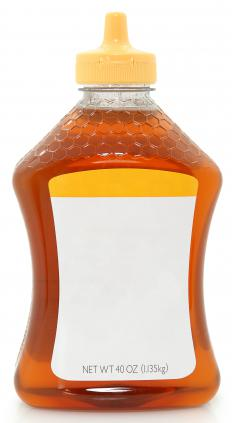 Clover honey in a squeeze bottle.