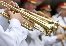 A trumpet player might want to start with simple music before trying out for bands or other groups.